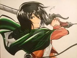 Mikasa by Lauren-the-Lyon
