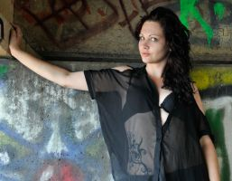 Natalie C - black under bridge 1 by wildplaces