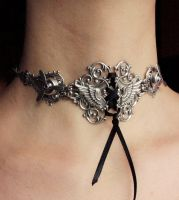 Steampunk propellers choker by Pinkabsinthe