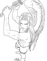 Sephiroth-Badass-ink by Destinyfall