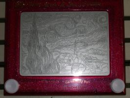 Starry Night Etch-a-sketch by anaranjaded