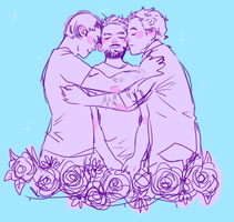 when they all hugged charlie in tha church by CountlecterMD