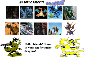 Top favorite Dragons Part 1 by FrozenMagic17