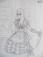 Alice Doll Outline by Grim-Heaper