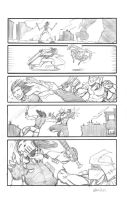 Casey Vs Shredder Pencils by interstateninja