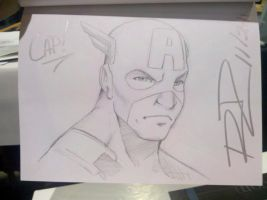 C2E2Sketch - Captain America by Robaato