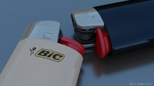 Bic Lighters by Warpcoreproject