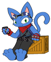 i'm a Blue Cat, da ba dee da ba by NO-Body-The-Dragon