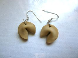 Fortune Cookies Earrings by FlamingChickCreation