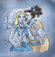 Femslash February 2015 - Daenerys/Missandei by ErinPtah