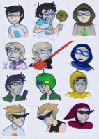 Homestuck Characters: Jane, Roxy, Jake and Dirk by Expression