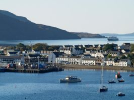 Island ferry approaches Ullapool by piglet365