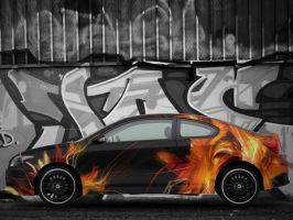 Flaming tC by kytty
