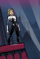 Spider-Gwen At Night by TheCosmicBeholder