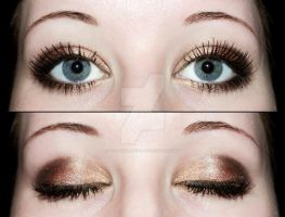 Smokey eyeshadow with brown colors by Creativemakeup