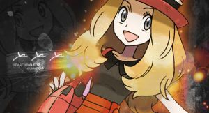 Serena  Pokemon X and Y  Girl Trainer Banner by ichigoluvsrukia