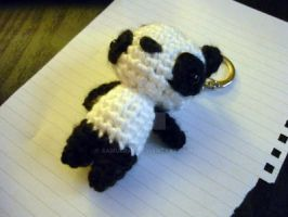 Panda Amigurumi Key Chain by AAMurray