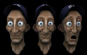 Old Man Faces by FoxHound1984