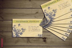 Florist business card by Phoenix2609