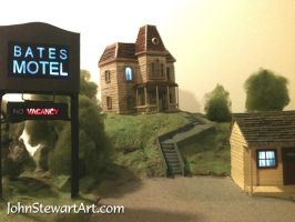 bates motel scal model by johnstewartart