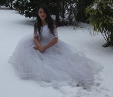 White dress in Snow Stock 11 by NaomiFan