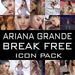 Ariana Grande Break Free Icon Pack by fairylighticons