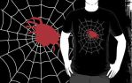 Simple Spider in a Web T by sicklilmonky
