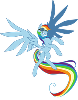 Rainbowdash vector by Kookookchoo