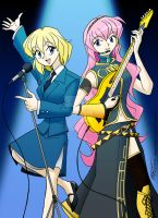 Claire and Megurine Luka by ArthurT2015
