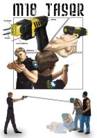 Technical Illustration - Taser by kimberly-castello