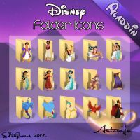 Disney Folder Icons - Aladdin by EditQeens