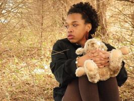 Girl With Teddy Bear III by music-lover-stock