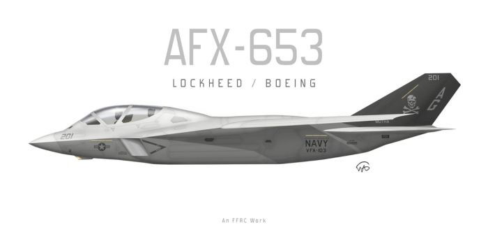 Lockheed/Boeing A/FX Proposal AFX-653 by fighterman35