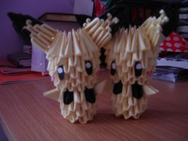 Origami Pichu Brothers by Moonlightspiral