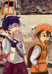 Boboiboy and Fang at street by Fia-V98