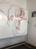 Kaari on the whiteboard by Dragon-In-A-Blue-Box