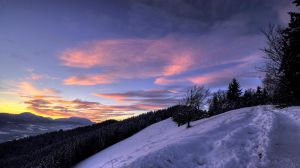 Winter sunset by mprox