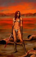 red sonja rest by fluidgeometry