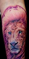 pink lion by tat2istcecil