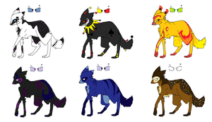 Adoptables1 by Silhouett3s