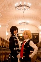 Pandora Hearts__Oz and Gilbert by smallw