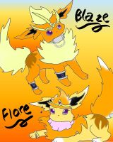 Blaze and Flare by Eeveelutionluver123