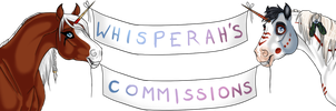 Whisperah's Commissions Banner by Whisperah