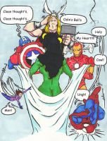 Avengers shocked by She-hulk by ben1804
