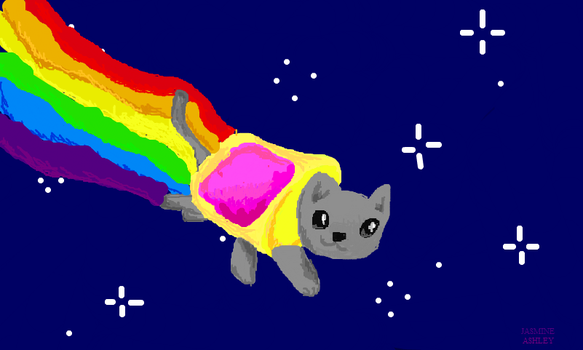 Nyan Cat, My Drawing by Invaderzim19