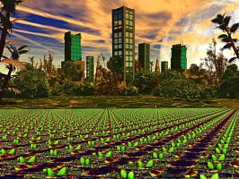 EARTH  2030  Return to urban Agriculture by DorianoArt