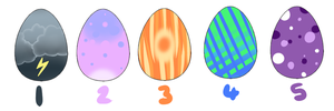 Puppy Eggs Set 1 .: SOLD :. by cloudsnstuff