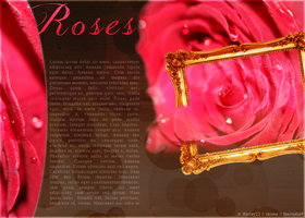 Roses Layout by crystalcleargfx