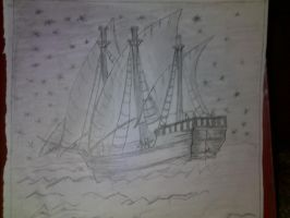 charcoal ship by CatWomen853