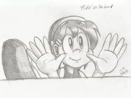 Belle on the Bus Sketch by JovialSketch
